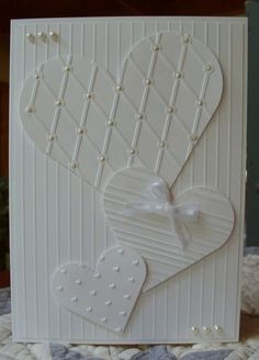 Wedding card - Heart Card.... would make a great wedding card!