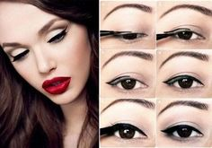 Here are a few tricks for putting on eyeliner very easy steps to look great in minutes!!