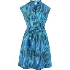 Fair Trade Batik Dress Retro Navy