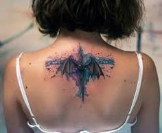 Image result for watercolour dragon tattoo