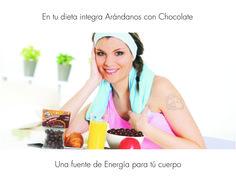 Los Arándanos con Chocolate son una fuente de Energía, están Riquísimos.