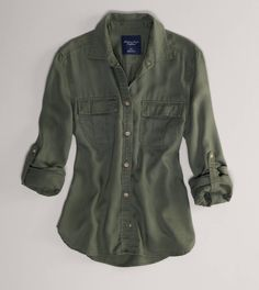 AE Girlfriend Shirt in Olive