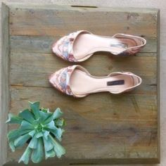 Flats Worn once ! Beautiful Sequence Flats. INC International Concepts Shoes