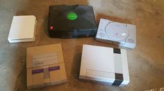 lot of 5 broken consoles for parts/repair: nes #SNES wii xbox playstation 1 from $96.0