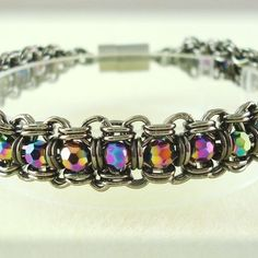 2-in-2 Chainmaille Tennis Bracelet | JewelryLessons.com | (I think it's actually 4-in-2 Japanese. Hmmph.)