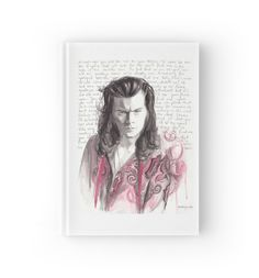 """Watercolor Harry"" Hardcover Journals by WaterLyrics 