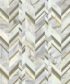 Royale / Odyssée Collection featured in natural stones (Calacatta Oro & Pacifica Blue), Venetian Glass & brushed brass Floor Patterns, Mosaic Patterns, Wall Patterns, Textures Patterns, Floor Design, Tile Design, Images Wallpaper, Marble Texture, Design Hotel