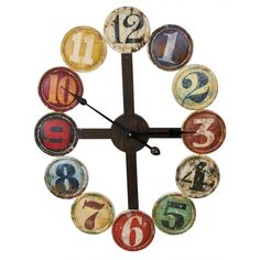 If you are looking to create an one-of-a-kind space consider using trendy metal home wall art decor for your home decor wall art theme. In fact metal wall Home Clock, Clock Art, Diy Clock, Clock Ideas, Unique Wall Clocks, Unique Wall Art, Wood Clocks, Art Nouveau, Abstract Metal Wall Art
