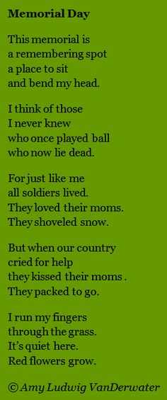poems about memorial day