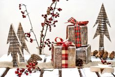 old wood christmas decorations