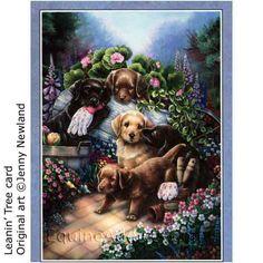 Jenny Newland - Gardening Puppies