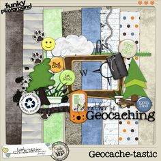 Geocaching - I wish this kit was still available.  I can't seem to find it and her blog seems to indicate that she's taken a break from designing.  :-(