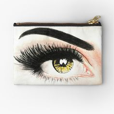 Golden Eyes, Zipper Pouch, Cotton Tote Bags, Chiffon Tops, Coin Purse, My Arts, Art Prints, Wallet, Purses