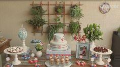 Chá de bebê: decoração da mesa