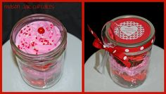 Mason Jar Valentine's Day Cupcakes by Simply Sweets....smooth sided mason jars...www.fillmorecontainer.com