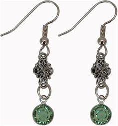 Earrings Swarovski Crystal Peridot August Birthstone Drop Earrings  #pantone  #2013