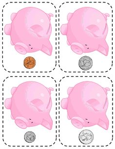 Full lesson plan plus free printables on money unit for preschoolers