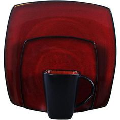 Soho Lounge Square 32-Piece Dinnerware Set, Assorted Colors