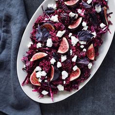 Purple Rain Salad- Quinoa, Beets, Red Cabbage, and Figs for all those antioxidants
