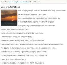 Career Affirmations