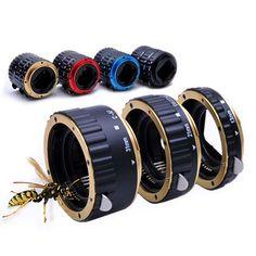 Colorido af de metal anillo de tubo de extensión macro para Canon EF eos ef-s