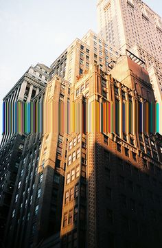 Manhattan glitch: I like this image because it is contemporary. I think the original image and structure is ordered, yet the glitch isn't. Glitch Art, Photomontage, Arte Gcse, Photoshop, Oeuvre D'art, Photo Manipulation, Manhattan, Photo Art, Art Photography