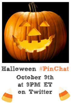 Come share your favorite Pinterest Halloween tricks and treats tonight on #PinChat!