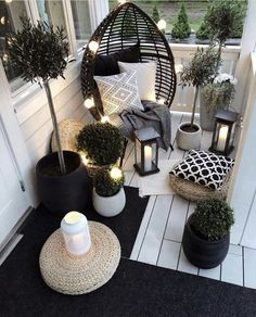 Beautiful Outdoor furniture for a small space. Beautiful Outdoor furniture for a small space. Eugenie Zimmer Beautiful Outdoor furniture for a small space. Get […] makeover black Apartment Balcony Decorating, Apartment Balconies, Cool Apartments, Porch Decorating, Patio Decorating Ideas On A Budget, Apartment Patios, Decorating Games, Patio Ideas For Apartments, Small Patio Ideas On A Budget