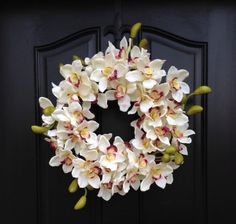 Hey, I found this really awesome Etsy listing at https://www.etsy.com/listing/216137523/spring-orchid-wreath-spring-orchids-year