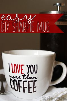 It can be hard to find a good gift for the coffee lover in your life- but I think this is the perfect one! This DIY sharpie mug tutorial is easy, fun, and adorable. It really makes a great gift, or just a fun and adorable addition to your mug collection. If you haven't made a DIY sharpie mug before, this is a great tutorial for you! It's clear, concise, and has step by step pictures. Who doesn't love a DIY that takes only 20 minutes and costs $5?