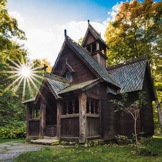 THE 16 MOST BEAUTIFUL PLACES IN WISCONSIN YOU DIDN'T EVEN KNOW EXISTED | Bjorklunden Chapel in Baileys Harbor, Door County, WI.