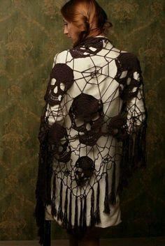 free spider web shawl crochet pattern - Google Search                                                                                                                                                                                 More