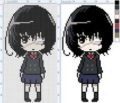 Схемы от Kaori | VK Beaded Cross Stitch, Crochet Cross, Cross Stitch Embroidery, Cross Stitch Patterns, Minecraft Kunst, Minecraft Pixel Art, Anime Pixel Art, Art Anime, Perler Bead Art