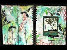 """""""Finding my soul"""" - art journal page tutorial by Sanda Reynolds www.artfulflight.com"""