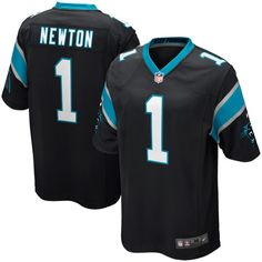 Nike Cam Newton Carolina Panthers Youth Black Team Color Game Jersey f826515d1