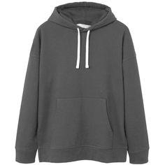 Pocket Cotton Sweatshirt ($47) ❤ liked on Polyvore featuring men's fashion, men's clothing, men's hoodies and men's sweatshirts