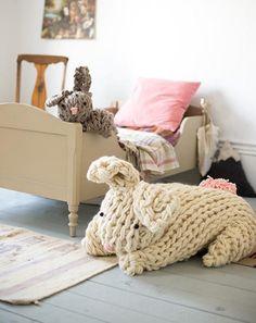 Giant arm knit bunny
