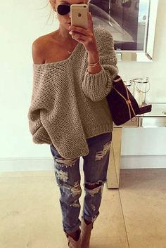 Cozy and sassy in one outfit! #womensfashion