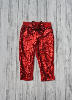 Red sequin leggings w/ sequins messy bow, gold sparkle pants, girls leggings, toddler gold pants, se 1st Birthday Shirts, Baby Girl Birthday, Girls In Leggings, Leggings Are Not Pants, Gold Sparkle, Gold Sequins, White Leotard, Gold Pants, Sequin Leggings