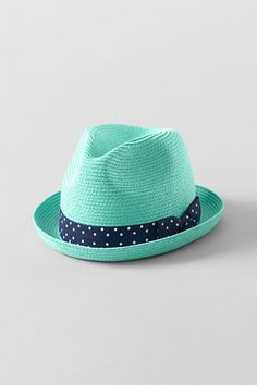 Girls' Colored Fedora Hat from Lands' End