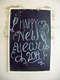 New Year 2014 Chalk board art