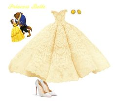"""Belle"" by crazylove71 ❤ liked on Polyvore featuring Christian Louboutin, Disney and Kate Spade"