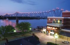 The Blue Bridge and beautiful River Park Center in Owensboro, Kentucky.