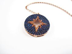 north star necklace kaballah jewelry by ellajewelrystore on Etsy Star Necklace, Pendant Necklace, Star Jewelry, Unique Jewelry, Rose Gold Charms, England Fashion, Protection Necklace, Something Blue, Gifts For Wife