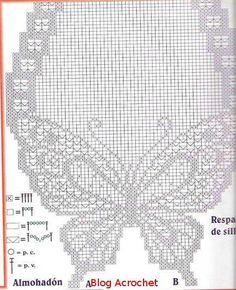Patrones Mariposas | Blog a Crochet – ACrochet – Tejidos y Patrones Gratis Crochet Thread Patterns, Crochet Butterfly Pattern, Crochet Flower Tutorial, Butterfly Cross Stitch, Crochet Motif, Crochet Doilies, Crochet Stitches, Crochet Curtains, Tapestry Crochet