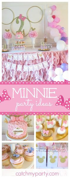 Take a look at this gorgeous Minnie Mouse 2nd birthday party. the balloon decorations are amazing!!