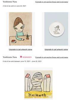 Yoshitomo Nara, Auction, How To Get, Artwork, Missing Home, Work Of Art, Auguste Rodin Artwork, Artworks, Illustrators