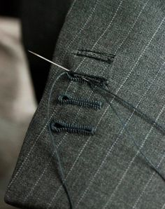 hand stitched button holes