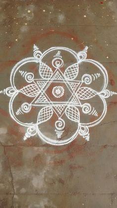 Simple Rangoli Designs Images, Beautiful Rangoli Designs, Kolam Designs, Indian Rangoli, Kolam Rangoli, Easy Rangoli, New Bridal Mehndi Designs, Padi Kolam, Latest Rangoli