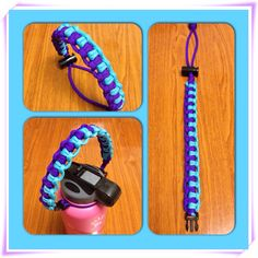 A new paracord Hydro Flask handle style called Zipper. Purple and turquoise. $8 Collyne808 8086359337
